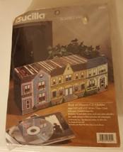 NEW Sealed Bucilla Plastic Canvas Needlepoint Kit Row of Houses CD Holde... - $29.99