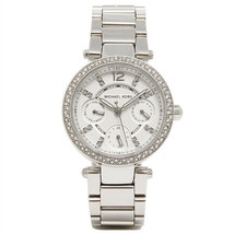 Michael Kors MK5615 Mini Parker Glitz Silver Bracelet Chronograph Watch - $137.12