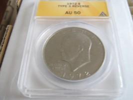1972 Eisenhower Dollar , Type  3 Reverse , ANACS , Lot of 6 - $100.00