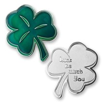 "LUCK BE WITH YOU IRISH LUCKY SHAMROCK  2"" CHALLENGE COIN - $16.24"