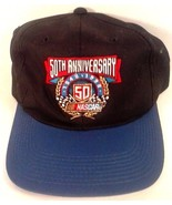 NASCAR 50TH ANNIVERSARY RACING BASEBALL HAT CAP BLACK FREE SHIPPING! - $19.95