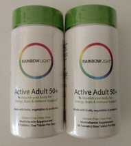 Rainbow Light Active Adult 50+ Multivitamin Supplement 50 Count 02188830... - $28.71