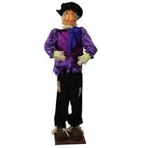 Vickerman Huge 6 Foot Life-Size Plush Pumpkin Scarecrow - Sitting or Sta... - $3.361,90 MXN