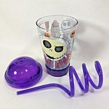 Disney Nightmare Before Christmas Tumbler Flashing Light Up Lid Straw Purple - $19.95