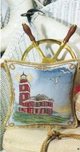 Cross Stitch Victoria Point Lighthouse Pillow Framed Sampler Pattern - $5.50