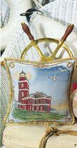 Cross Stitch Victoria Point Lighthouse Pillow Framed Sampler Pattern - $5.50