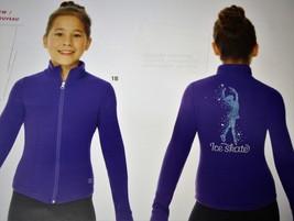Mondor Model 24488 Polartec Skating jacket With Sequin Applique Violet Ad Small - $125.00