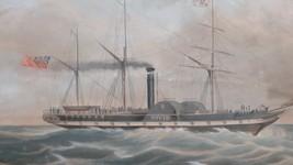 1841 Hand- Farbe Aquatinta Aufdruck die Allgemeine Dampf Navigation Firm... - $628.68