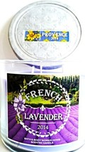Bath & Body Works French Lavender 3 Wick Candle 14.5 Oz Provence 2014 NEW image 2