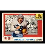 VINTAGE NFL 1955 Topps #63 Charlie Justice  VGEX  - $24.08