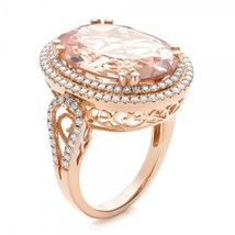 7.85tcw Champagne Diamond Art Deco Wedding Jewelry Christmas Gift Rose Gold Ring - $649.99