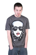 Tavik Mens Charcoal Gray Jealous Woman Scarf Lips Blood T-Shirt NWT image 1