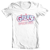 Grease is the Word T shirt retro 70s musical movie 100% cotton white tee PAR135 image 1