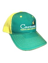 Countryside Farm And Lawn Equipment Co. Baseball Hat Green And Yellow Me... - $11.88