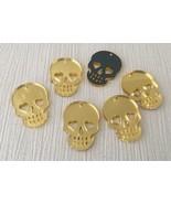 8 x Gold Mirror Silver Laser Cut Acrylic Skulls Charm Pendants, Jewelry ... - $17.15