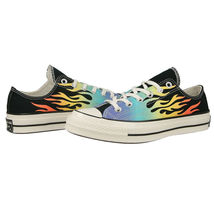Converse Chuck 70 Ox Flames Archive Print Canvas 164407C Black/Turf Orange/Egret image 4