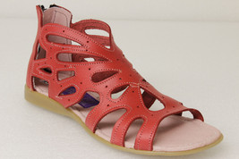 Womens 202 Red Ankle Zipper Style All Real Leather Huarache Sandals - €32,40 EUR
