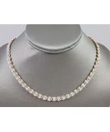 Womens Vintage Estate Sterling Silver Necklace 34.9g E5063 - $178.20