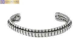 Ladies John Hardy 925 Sterling Silver Three-Row Bedeg Cuff Bracelet - $350.00