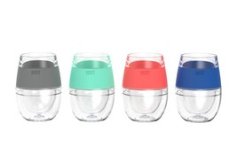Cool Cup, 4pcs Wine Freeze Assorted Color Insulated Cooling Pint Glasses - $47.99