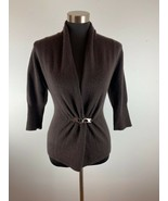 Neiman Marcus Cashmere Collection Womens Cardigan Sweater XS Brown Wrap ... - $98.99