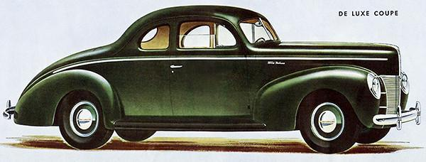 Primary image for 1940 Ford De Luxe Coupe - Promotional Advertising Poster
