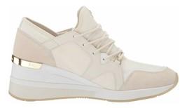 Michael Kors MK Women's Liv Trainer Nylon Sneakers Shoes Cream image 2
