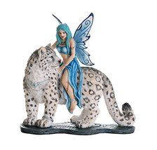 Pacific Giftware Decorative Companion Fairy Hima with Snow Leopard Collectible D - $50.26