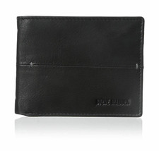 Steve Madden Men's Premium Leather Credit Card Id Wallet Black N80027/08