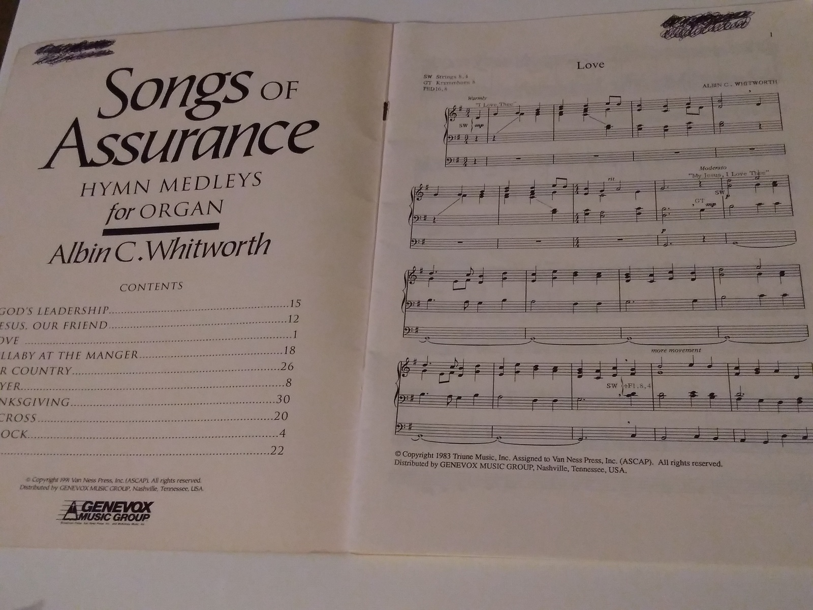 Songs of Assurance Hymn Melodies for Organ Albin C. Whitworth image 2