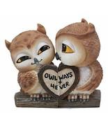 Ebros Romantic Kissing Love Owl Couple Decor Statue 2 Piece Set Decorati... - $21.99