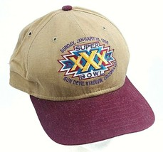 Brown NFL New Era 1996 XXX Super Bowl Sun Devil Stadium Arizona Strap Back B-Cap - $29.68