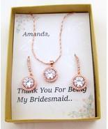 CZ bridesmaid jewelry set, Bridesmaid gift set, Cubic Zirconia Jewelry - $24.62