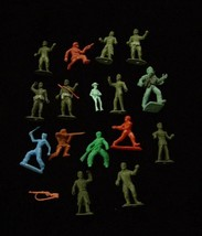 Vintage Toy Soldiers Western Indians Frontier Man Play Set Figure Lot MPC + - $16.99
