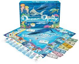 Ocean-Opoly [Game Complete] Monopoly Style Board Game - $32.92