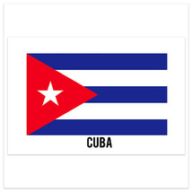 Cuba Country Flag Wall Art Poster - $18.32