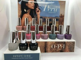 OPI Infinite Shine Polish Nail Lacquer PERU Collection 16 Bottle - $98.95