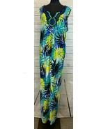 Catherine's Tropical Pattern Sleeveless Maxi Dress Size 3X 26/28 NEW NWT - $44.44
