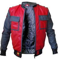 BTTF Jacket Marty McFly Back To The Future 2015 Bomber Costume Leather Jacket image 1