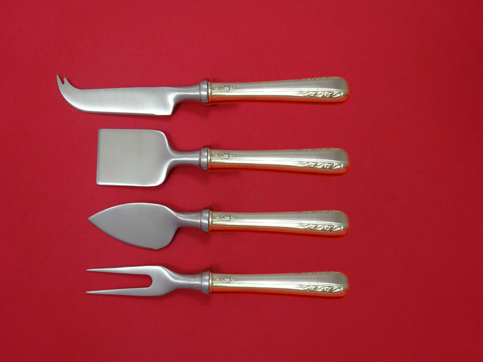 Primary image for Courtship by International Sterling Cheese Serving Set 4 Piece HHWS  Custom
