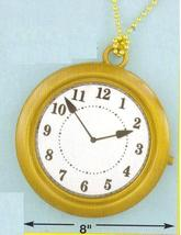 "RAPPER'S 8"" CLOCK ON A 24"" PLASTIC NECK CHAIN - $5.00"
