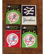 1982 FLEER TEAM LOGO STICKERS Yankees Set Of 4 stickers mint pack fresh - $5.95
