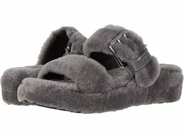 UGG Fuzz Yeah Women's Shoes Grey Sandals Slippers 7 38 New - $58.00