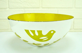 "11"" Mid-Century Modern Hanova Chaney Enamel Dove & Olive Branch Serving ... - $139.90"