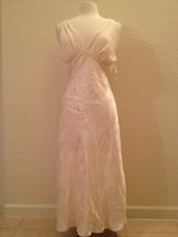 NEW Jones New York Jacquard Bridal Bliss Satin Gown 1J252G Lt. Cappuccin... - $48.00