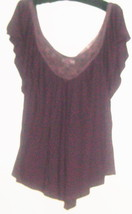 Women's Purple Detail Neck Top Size M - $5.00
