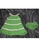 12-18 Months Gymboree A POP OF DAISIES Green Woven Dress & Diaper Cover ... - $12.22