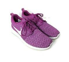 Nike Rosherun Fly Knit Womens Size 8.5 Pink White Fuchsia Flash Running ... - $39.59