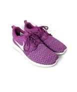 Nike Rosherun Fly Knit Womens Size 8.5 Pink White Fuchsia Flash Running ... - $39.59
