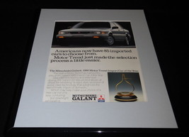 1989 Mitsubishi Galant 11x14 Framed ORIGINAL Vintage Advertisement - $32.36